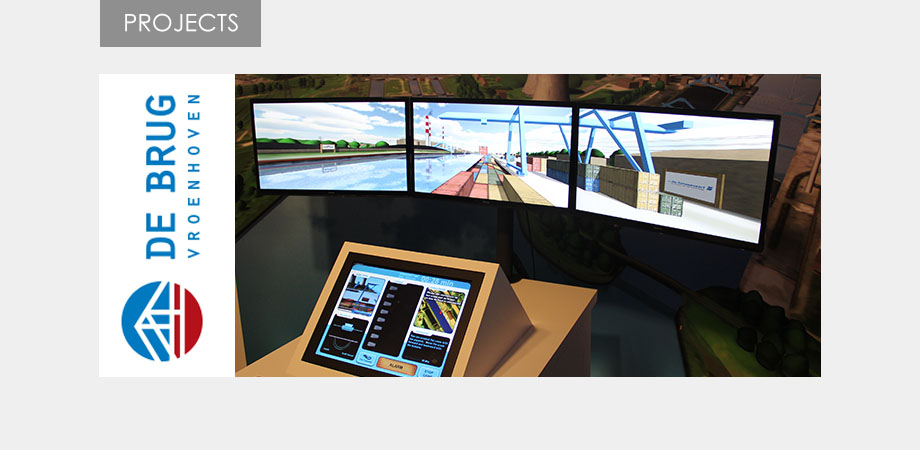 Bridge of Vroenhoven navigation simulator